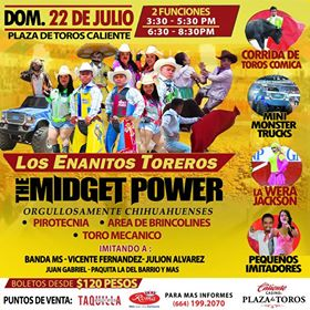 Los Enanitos Toreros: The Midget Power @ Plaza de Toros Caliente